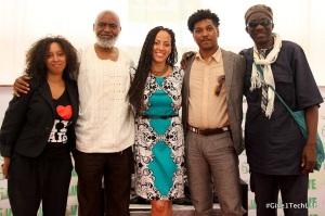give1arts Kimberli Gant, Moyo Okediji, Jacqueline Cofield, Angelbert Metoyer, Viye Diba panel