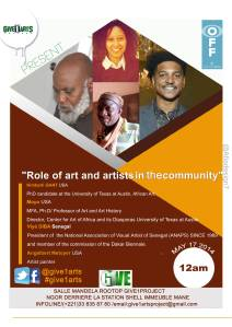 give1arts panel artist, give1project