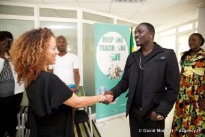 Jacqueline Cofield N'Namdi, Akon, Give1Arts
