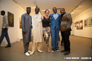Jacqueline Cofield, Thione Niang, Kehinde Wiley, Viye Diba