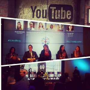 Panel discussion at #YoutubeSpaceNY about developing media content that engages and depicts women in science and technology. #Sciandstory