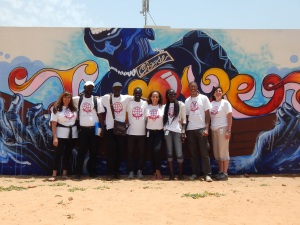 J Rêve Global Educators from NY visited the mural while in Dakar.