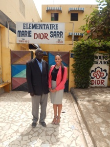 Jacqueline Cofield and Dior School Director Mr. Ndiaye