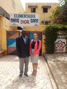 Jacqueline Cofield and Dior School Director Mr. Ndiaye