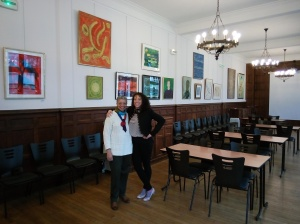 J Rêve Founder, Jacqueline Cofield, and Dr. Monique Wells, co-curator of the Beauford Delaney Exhibition at Columbia University Reid Hall